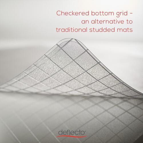 Deflecto Checker Bottom SuperMat for Carpets (CM84113)