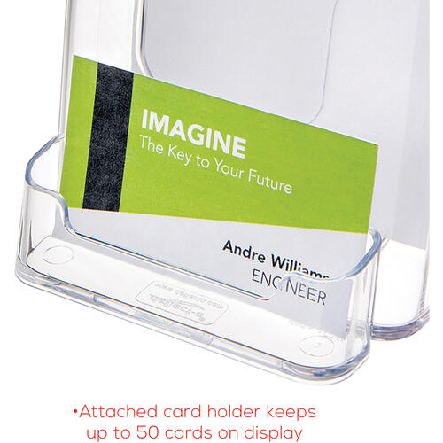 deflecto Deflect-o Countertop Leaflet Holder With Business Card Holder (78601)