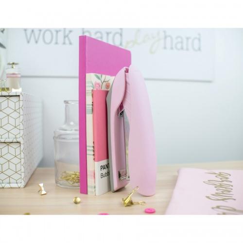 Bostitch Velvet Pink No-Jam Stapler Plus Pack (B326PPVLTPNK)