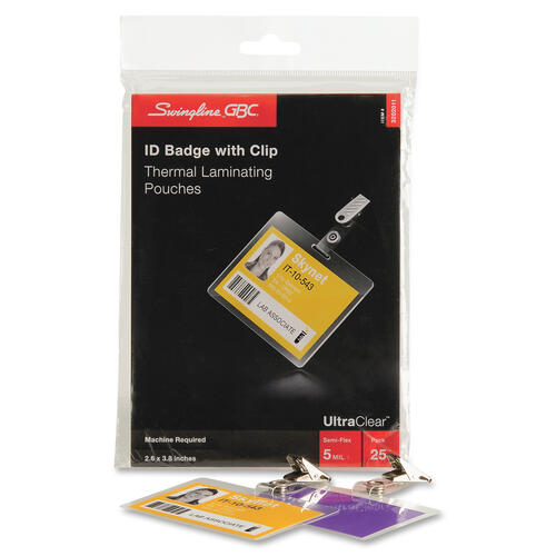 GBC Ultra Clear ID Badge Thermal Laminating Pouches (3202011)