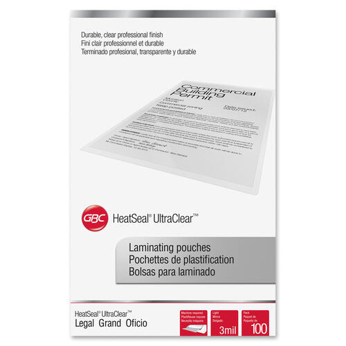 GBC HeatSeal UltraClear Thermal Laminating Pouches (3745011)