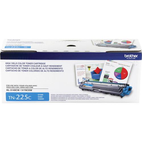 Brother Genuine TN225C High Yield Cyan Toner Cartridge