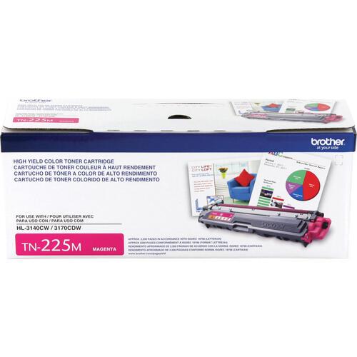 Brother Genuine TN225M High Yield Magenta Toner Cartridge