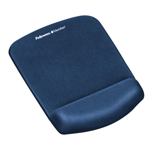 Fellowes PlushTouch Mouse Pad Wrist Rest with Microban - Blue (9287301)