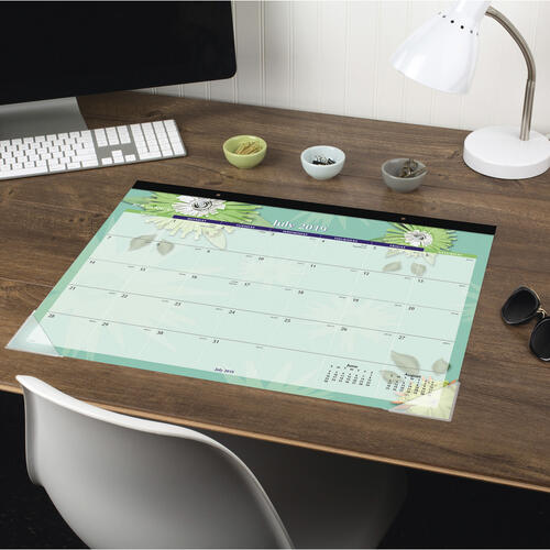 AT-A-GLANCE Paper Flowers Academic Calendar Desk Pad (5035A)