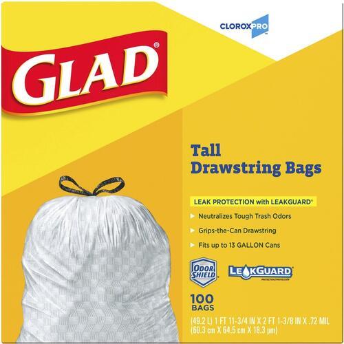 Glad ForceFlex Tall Kitchen Drawstring Trash Bags (78526)