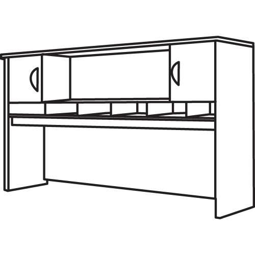 Bush Business Furniture Series C Hansen Cherry 72W 2-door Hutch (WC24466A2)