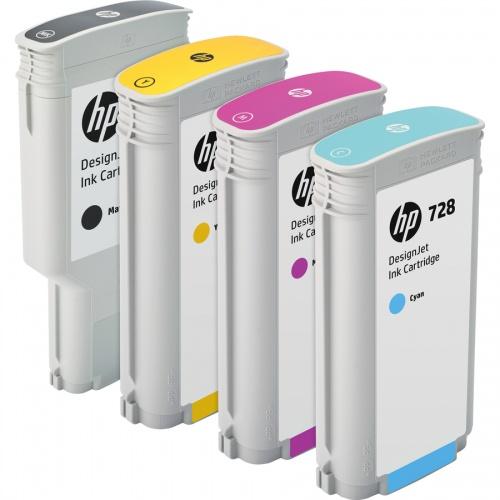 HP 728 300-ml Matte Black DesignJet Ink Cartridge (F9J68A)