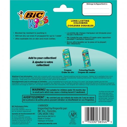 BIC Jumbo Coloring Markers (BKCMJ10AST)