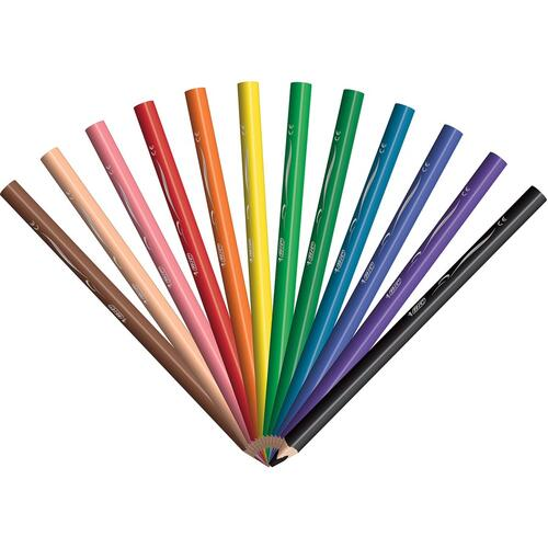 BIC Kids Coloring Pencils (BKCPJ12AST)