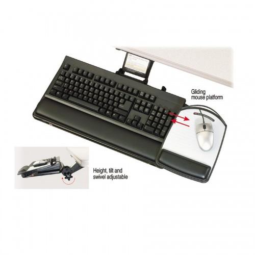 3M Adjust Keyboard Tray with Adjustable Keyboard and Mouse Platform (AKT80LE)