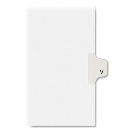Avery Individual Legal Dividers Allstate(R) Style, Letter Size, Side Tab V (82184)