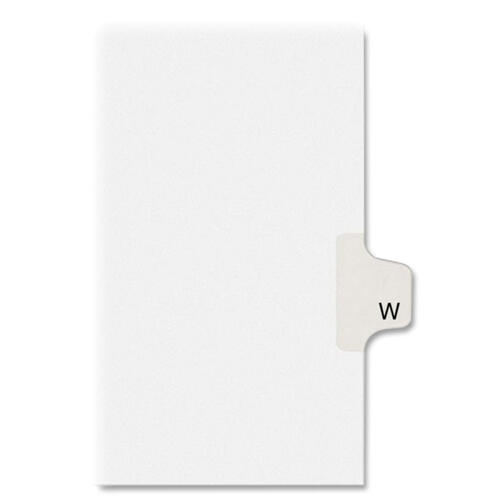 Avery Individual Legal Dividers Allstate(R) Style, Letter Size, Side Tab W (82185)