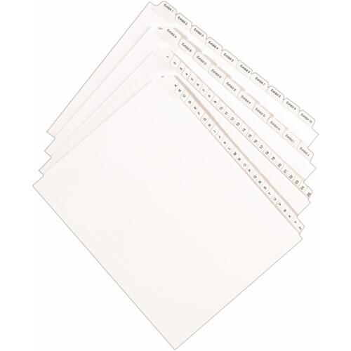 Avery Individual Legal Dividers Allstate(R) Style, Letter Size, Side Tab X (82186)