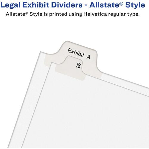 Avery Collated Legal Dividers Allstate(R) Style, Letter Size, 176-200 Tab Set (82190)