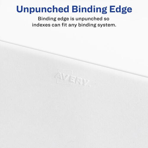 Avery Individual Legal Dividers Allstate(R) Style, Letter Size, Side Tab #2 (82200)
