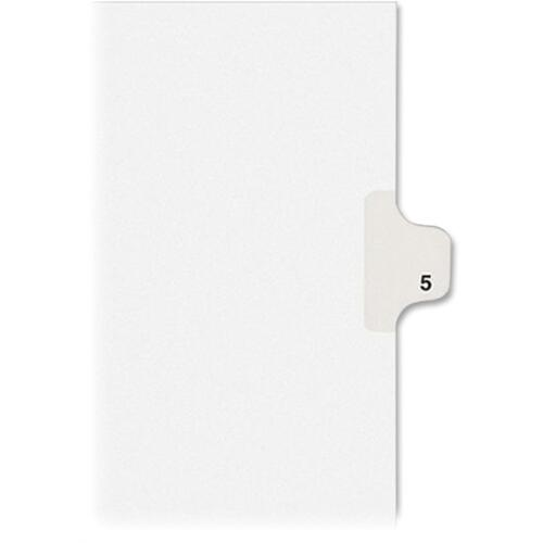 Avery Individual Legal Dividers Allstate(R) Style, Letter Size, Side Tab #5 (82203)
