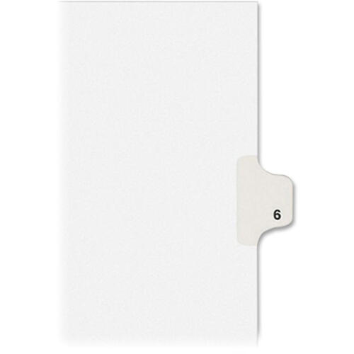 Avery Individual Legal Dividers Allstate(R) Style, Letter Size, Side Tab #6 (82204)
