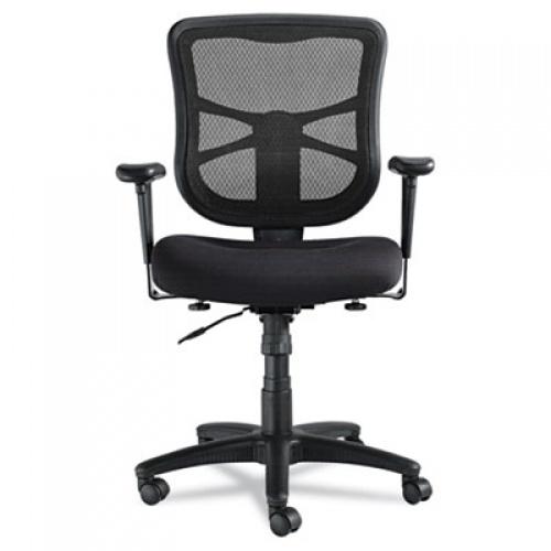 Alera Elusion Series Mesh Mid-Back Swivel/Tilt Chair, Supports up to 275 lbs., Black Seat/Black Back, Black Base (ALEEL42BME10B)