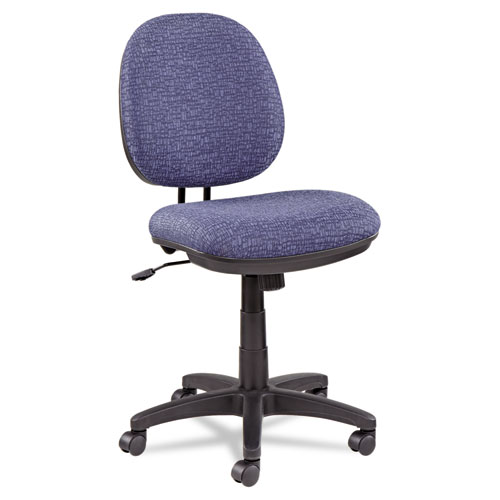 Alera Interval Series Swivel/Tilt Task Chair, Supports up to 275 lbs., Marine Blue Seat/Marine Blue Back, Black Base (ALEIN4821)