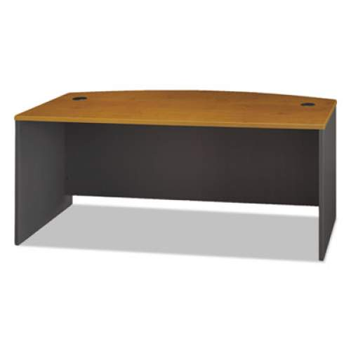 Bush Series C Collection 72W Bow Front Desk Shell, 71.13w x 36.13d x 29.88h, Natural Cherry (WC72446)