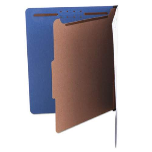 Universal Bright Colored Pressboard Classification Folders, 1 Divider, Letter Size, Cobalt Blue, 10/Box (UNV10201)