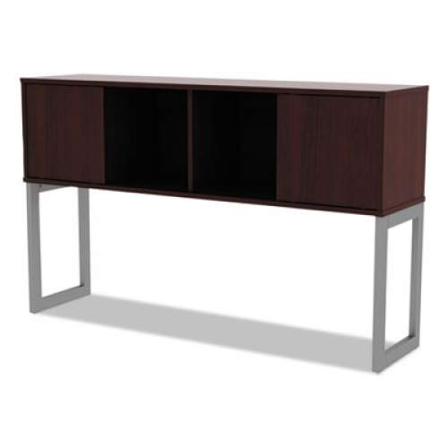 Alera Open Office Desk Series Hutch, 59w x 15d x 36.38h, Mahogany (ALELSHH60MY)