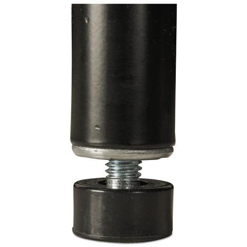 Alera NSF Certified Industrial 4-Shelf Wire Shelving Kit, 48w x 24d x 72h, Black (ALESW504824BL)
