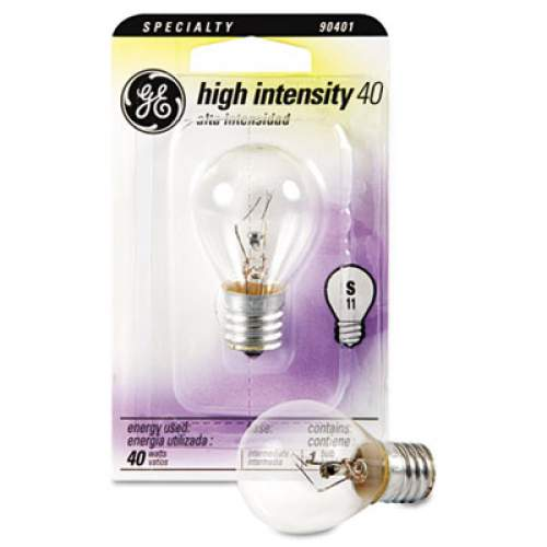 GE Incandescent S11 Appliance Light Bulb, 40 W (35156)