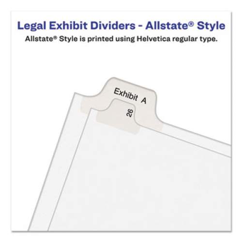 Avery Preprinted Legal Exhibit Side Tab Index Dividers, Allstate Style, 26-Tab, I, 11 x 8.5, White, 25/Pack (82171)