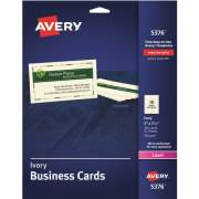 "Avery Business Cards, Ivory, Two-Sided Printing, 2"" x 3-1/2"", 250 Cards (5376)"