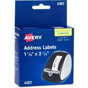 "Avery Thermal Roll Labels, 1-1/8"" x 3-1/2"" , 120 Clear Labels (4151)"