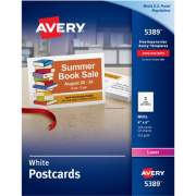 "Avery Postcards, Uncoated, Two-Sided Printing, 4"" x 6"", 100 Cards (5389)"