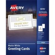 Avery Inkjet Greeting Card - White (8316)