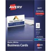 "Avery Business Cards, Matte, 2-Sided Printing, 2"" x 3-1/2"", 1,000 Cards (8471)"