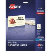 "Avery Business Cards, Matte Ivory, Two-Sided Printing, 2"" x 3-1/2"", 250 Cards (8376)"