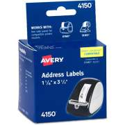 "Avery Thermal Roll Labels, 1-1/8"" x 3-1/2"" , 260 White Labels (4150)"