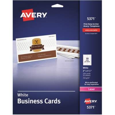 Avery Printable Business Cards, Two-Sided Printing, 2