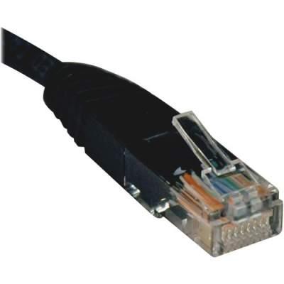 Tripp Lite 7ft Cat5e / Cat5 350MHz Molded Patch Cable RJ45 M/M Black 7' (N002-007-BK)