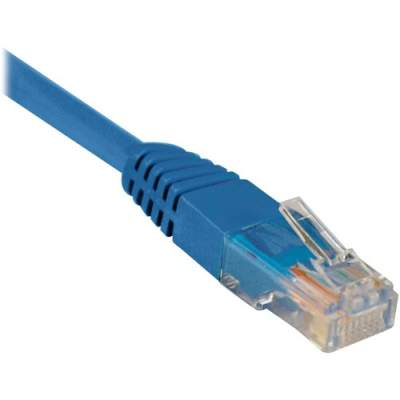 Tripp Lite 14ft Cat5e / Cat5 350MHz Molded Patch Cable RJ45 M/M Blue 14' (N002-014-BL)