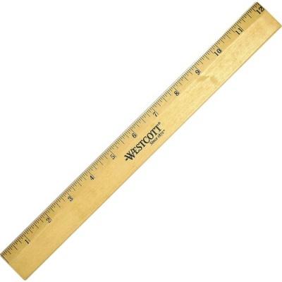Acme United Westcott Beveled Metal Edge Wood Rulers (05011)