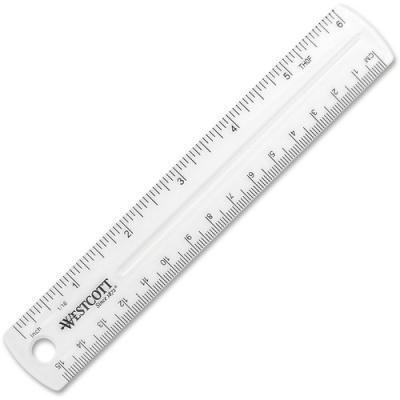 Acme United Westcott Clear Plastic Ruler (45016)