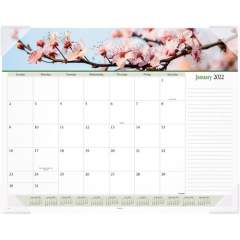 AT-A-GLANCE Panoramic Floral Image Monthly Desk Pad (89805)