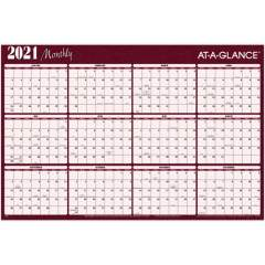AT-A-GLANCE Erasable/Reversible Horizontal Yearly Wall Planner (A102)
