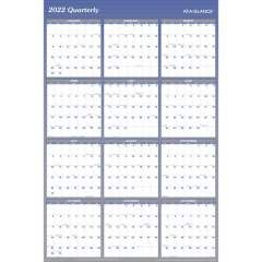 AT-A-GLANCE Erasable/Reversible Yearly Wall Planner (A1152)