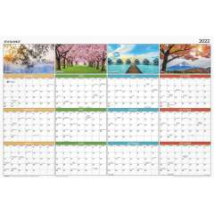 AT-A-GLANCE Seasons in Bloom Erasable/Reversible Wall Planner (PA133)