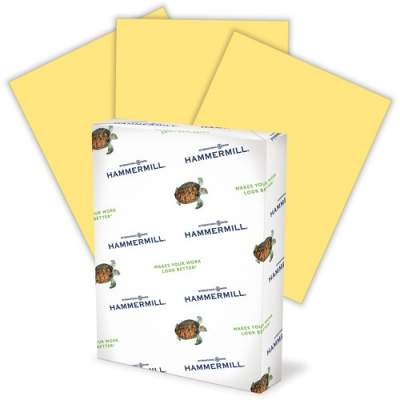 International Paper Hammermill Colored Paper, Buff Paper, 8.5
