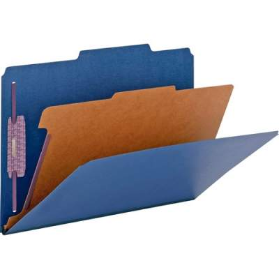 Smead Colored Pressboard Classification Folders with SafeSHIELD Coated Fastener Technology (18732)