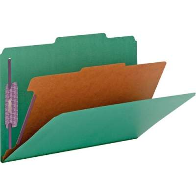 Smead Colored Pressboard Classification Folders with SafeSHIELD Coated Fastener Technology (18733)