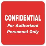 Tabbies Confidential Authorized Personnel Only Label (40570)